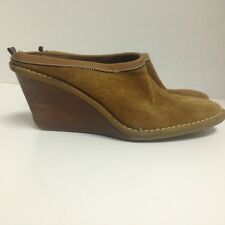 Cole Haan Suede Mules Wedges Clogs Shoes Women's 8 M