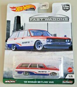 Hot Wheels '69 Nissan Skyline Van #1 Car Culture Fast Wagons 1/5 Real Riders JDM