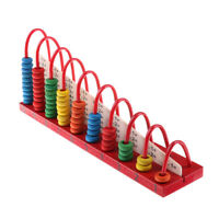 Child Abacus Counting Beads Maths Learning Educational Math Toy Kids Wooden ToDD