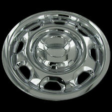 "For FORD F150 17"" Chrome Wheel Skin HubCaps Covers 6 Lug 8 Slot Steel Wheels Set"