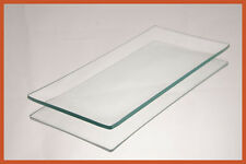 """3 1/2"""" X 7 1/2"""" Rectangle Clear """"BENT"""" Glass Plate 1/8"""