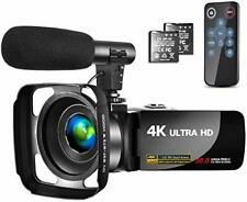 Camcorder 4K Video Camera with Microphone Vlogging Camera YouTube Camera Reco...