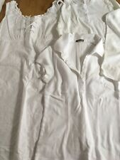 Lot of 3 White Misses Medium Pieces. Vintage BEBE, and J. Crew. Dress & Tops
