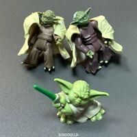 Lot 3 Pcs STAR WARS Action Figure Yoda master Yoda Jedi