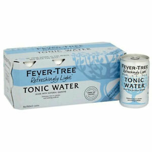 Fever Tree Refreshingly Light Indian Tonic Water 150ml CANS - Pack of 8
