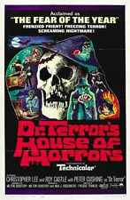 Dr Terrors House Of Horrors Poster 01 Metal Sign A4 12x8 Aluminium