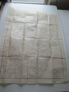 1908 RAILWAY MAIL SERVICE MAP, MID ATLANTIC STATES, INT. CORRESPONDENCE SCHOOLS