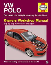 Haynes Workshop Repair Manual for VW Polo 2009 - 2014