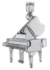 Sterling Silver Grand Piano Pendant Musical Chorus Band Instruments