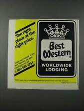 1986 Best Western Hotel Ad - The Right Place at the Right Price