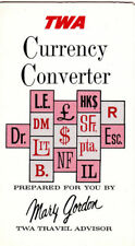 Vintage 1968 Trans World Airlines TWA Currency Converter Money