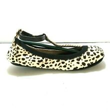 Yosi Samra YS Foldable Flats Ballet T Strap White Packable Dalmatian PICK SIZE