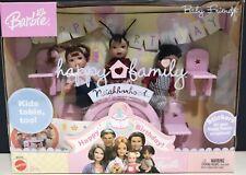 """Happy Family Neighborhood """"Happy 1st Birthday"""" Baby Friends Barbie Dolls *New*"""