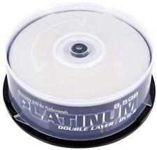 25 Platinum Rohlinge DVD+R Double Layer full printable 8,5GB 8x Spindel