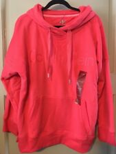 NEW Women Coral Neon Sweatshirt $69 Shirt Soft Hoodie XL/L 1X Calvin Klein *