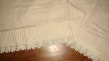 Classics by Eileen West 2 Standard Ivory Lace Trim Pleated Sateen Pillowcases