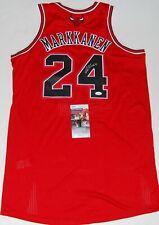 LAURI MARKKANEN signed (CHICAGO BULLS) autographed NBA basketball jersey JSA