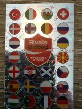 PANINI EURO 2020 Pearl Edition Coca Cola Impossible Sticker Rivals United Swiss