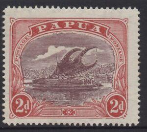 PAPUA 1916-31 LAKATOI  2d ERROR OF COLOUR MH SG.96aw  WMK CROWN TO RIGHT OF A