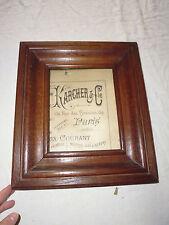 ancien cadre à photo en bois carré épais et lourd à suspendre 29x33 cm