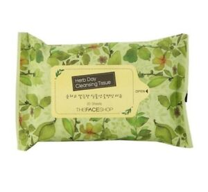 [THE FACE SHOP]  Herb Day Cleansing Tissue (20 sheets)