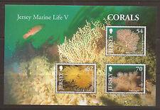 Jersey 2004 Corals m/s MNH