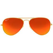 Ray Ban Aviator Flash Polarized Orange Flash Sunglasses RB3025 112/4D 58