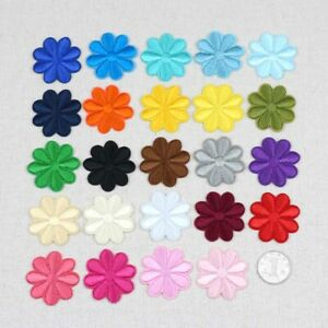 5/100Pcs Embroidered Snowflake Patches Iron/Sew-On Fabric Applique Patch Badge
