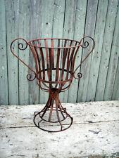 "19"" Wrought Iron Urn Planter - Metal Garden Flower Pot w/ Traditional Style"