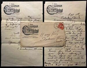 1900 **THE CUSHMAN HOTEL** PETOSKEY, MICH. AD COVER+LETTERHEADS+VIGNETTE!  RARE!
