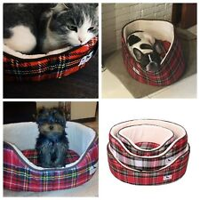 Dog Cat Super Soft Bed Soft Plaid Non-slip Bottom Pet Winter Fashion Pattern