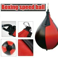 Sport Fitness MMA Boxing Punching Ball Speed Training Leather Bag Pu Pe T0S1