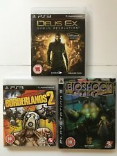 PS3 Game Bundle  Bioshock + Borderlands 2 + Deus Ex -(512)