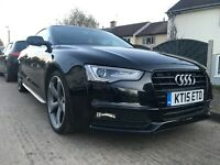 AUDI A5 S LINE BLACK EDITION PLUS   2.0 TDI 177 DIESEL 2015 BLACK COUPE MANUAL