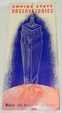 c1950s EMPIRE STATE BUILDING OBSERVATORIES Brochure