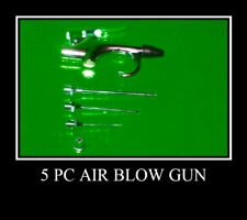 5 pc Air Blow Gun With Needles Tips Air Cleaner Tools