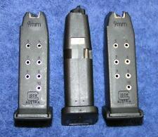 3 Glock 26 mags. New factory 9mm 10 round. Glock factory magazine X 3