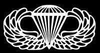 AIRBORNE WINGS Window Sticker Decal
