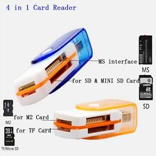 USB Micro For M2 SD SDHC Mini SD TF Cards Adapter 4 In 1 TF SD Card Reader
