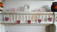 Valentines Day Red Love Heart Wooden Garland Bunting Wedding Party Home Decor