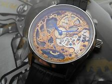 SEAGULL ST3621 SKELETON SQUELLETE  MOVEMENT IN SWISS MADE CASE 44mm SAPPHIRE
