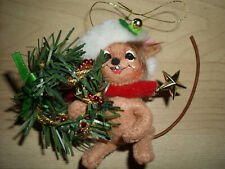 """Annalee 3"""" Christmas Mouse & Wreath Holiday Ornament"""