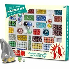 Classic Games Marble Set - Contains 224 Marbles and a Marble Bag