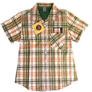 Eager Beaver Jungen Karo Hemd Kurzarm  Gr. 140 NEU mit Etikett