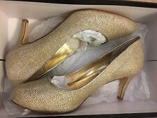 Dune Gold Evening/Bridal Court Shoe Size 4
