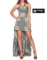 Vestito Asimmetrico Donna Cerimonia Estivo Woman Maxi Party Dress VML-1001