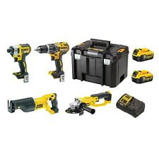 DeWALT 18V Li-ion XR 4 Piece Combo Kit - With 2 x 5.0Ah Batteries - USA BRAND