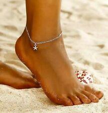 ⭐ Seestern SILBER Kettchen Fuß Trend Fashion Fußkettchen ⭐
