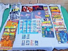 Lot of 95 Star Trek Magazines/Trading Cards/ 8 x 10 photos