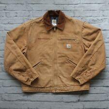 Vintage Carhartt Detroit Blanket Lined Work Jacket 44 Made in USA Coat Wip